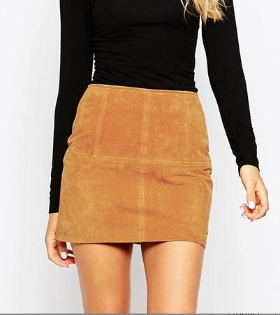 Asos suede mini skirt