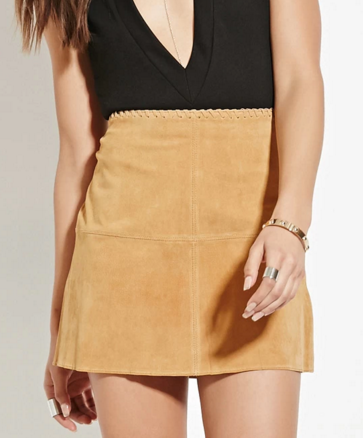 Forever 21 suede mini skirt