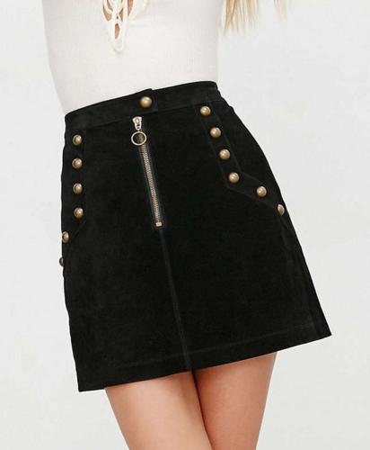 UO suede mini skirt
