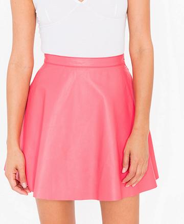 American Apparel leather mini skirt