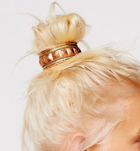 FP engraved ponytail holder