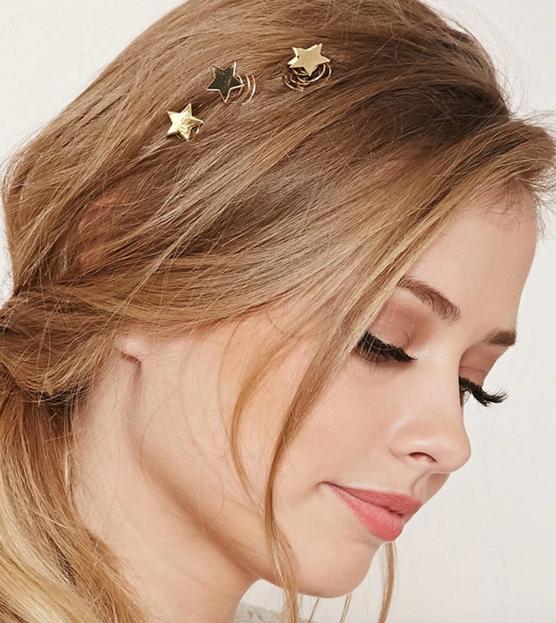 Forever 21 star hair pins