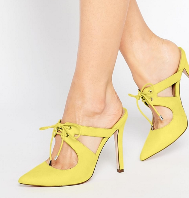 ASOS PLAY TO WIN Pointed Heeled Mules