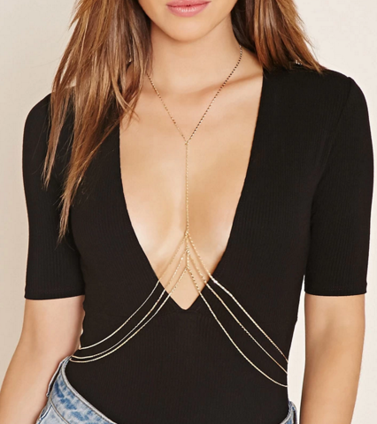 Forever 21 box body chain