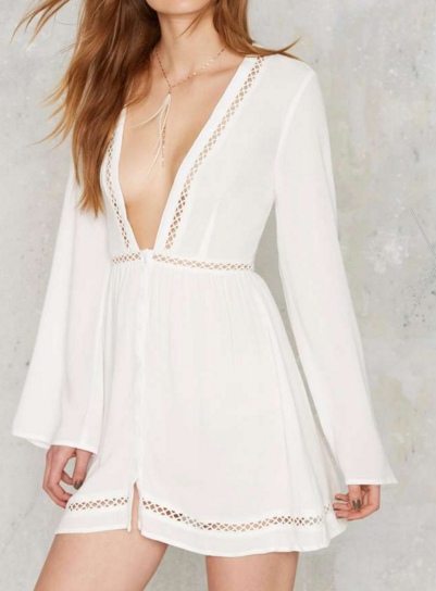 Nasty Gal senna plunging cover-up
