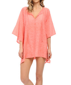 Echo Design Solid Kangaroo Poncho Cover-Up