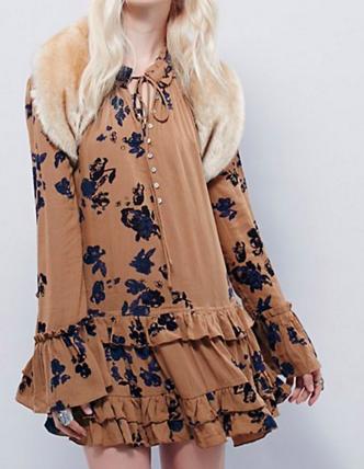 Fp clover field ruffle dress