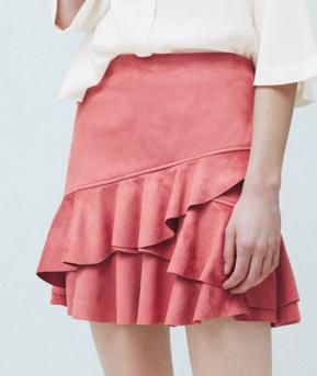 Mango ruffled mini skirt