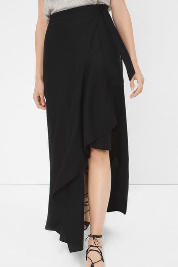 WHBM wrap maxi skirt
