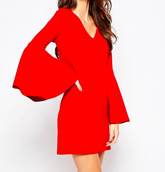 ASOS 60s Shift Dress with Flared Sleeves