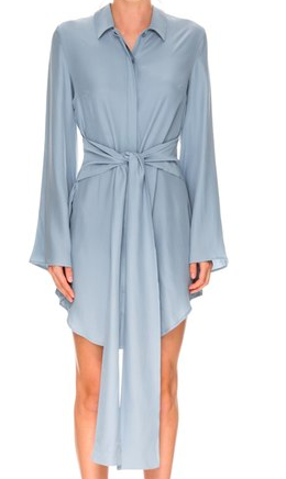 C/MEO 'Fiction' Silk Twist Front Shirtdress