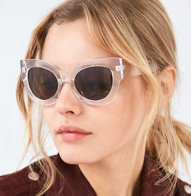 Nina Chunky Cat-Eye Sunglasses