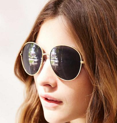 Super Model Oversized Round Sunglasses