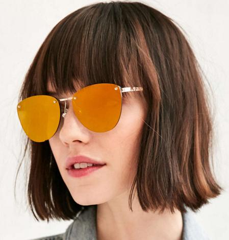 Spacewoman Rimless Frame Sunglasses