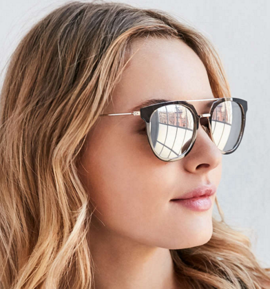 UO Mercury Brow Bar Sunglasses