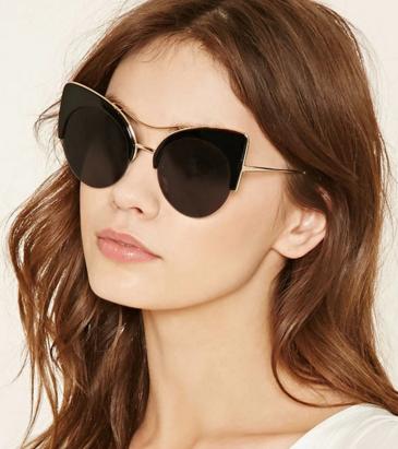 Forever 21 browline cat eye sunglasses