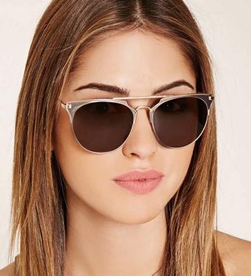 Forever 21 Matte-Accent Aviator Sunglasses