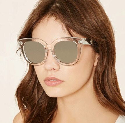 Forever 21 mirrored square sunglasses