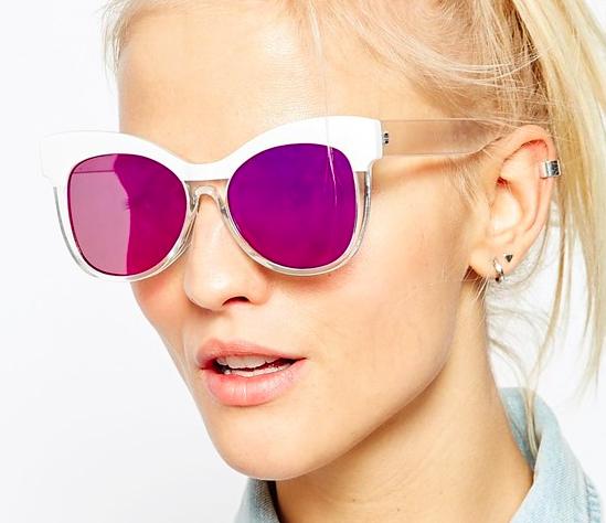 ASOS Retro Cat Eye Sunglasses With Flat Lens