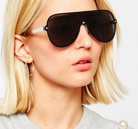 ASOS Flat Lens Aviator Sunglasses