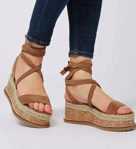 WAVE Flatform Espadrille Wedge