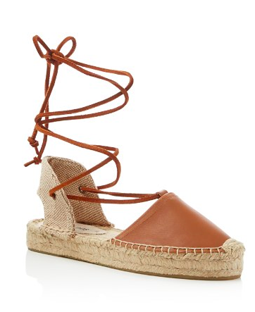Soludos Gladiator Lace Up Flatform Espadrille Sandals