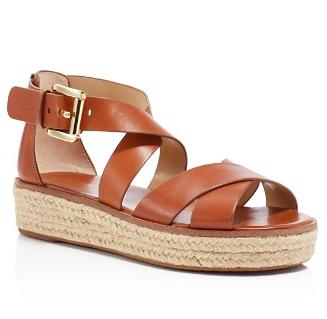 MICHAEL Michael Kors Darby Strappy Espadrille Flatform Sandals