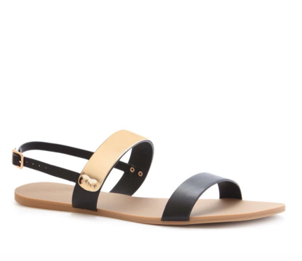 FOREVER 21 Plated Faux Leather Sandals