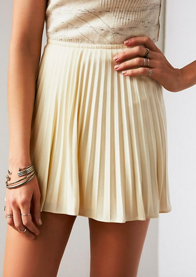 Vintage Pleated A Line SkirtFP v