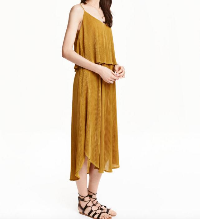 HM Sleeveless Pleated Dress
