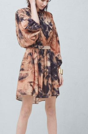 MANGO Printed pleated dress