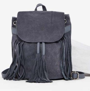 Don't Hang Up Suede Tassel Backpack