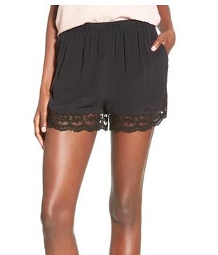 Leith lace trim shorts