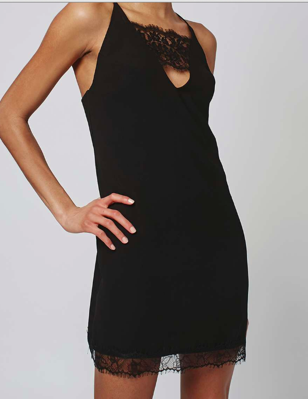Topshop Lace Trim Slip Dress