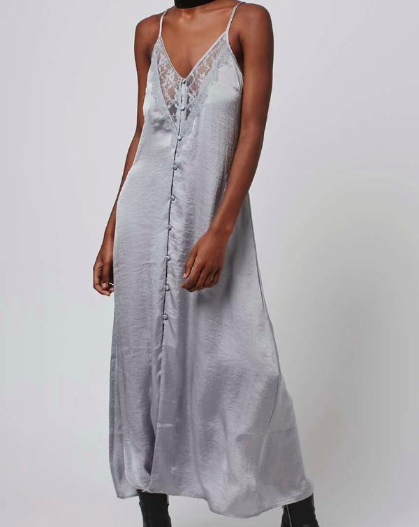 Topshop Satin Maxi Slip Dress