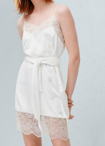 Mango lace slip dress