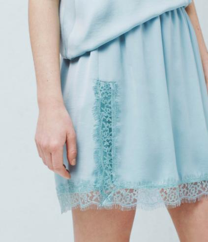 mango lace mini skirt