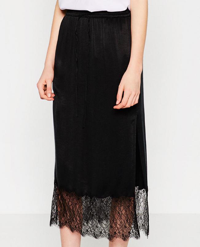 Zara lace trim skirt