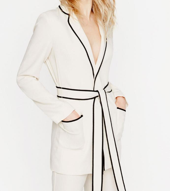 Zara belted blazer