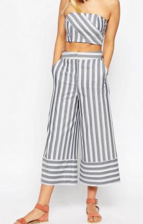 ASOS Premium Multiway Stripe Culottes Co-ord