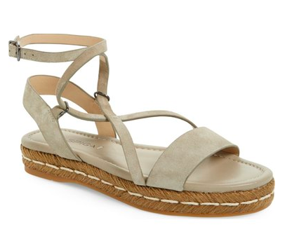 Via Spiga 'Laney' Wraparound Lace Sandal