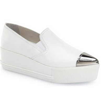 Miu Miu Metal Cap Toe Platform Sneaker