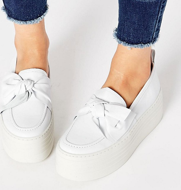KG By Kurt Geiger Lucky Leather Flatform Shoes