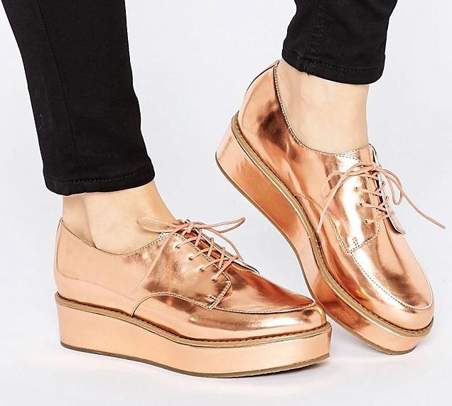ASOS MAVIS Flatform Lace Up shoes