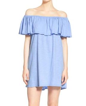Rebecca Minkoff 'Diosa' Cotton Off the Shoulder Dress