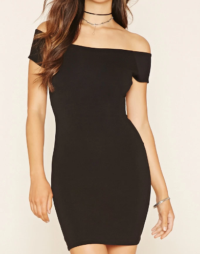 Forever 21 off the shoulder mini dress