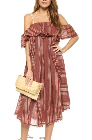 Free People Hooked on a Feeling Midi Dress