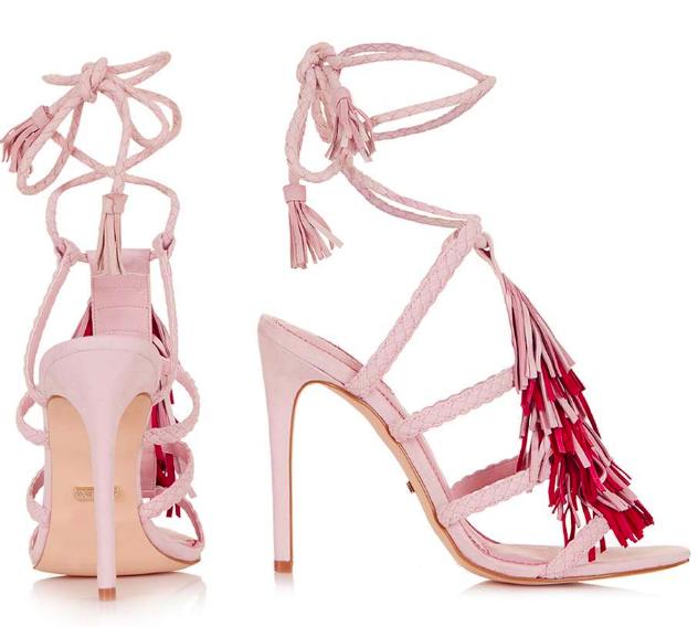 RARA Fringe Braided Sandals