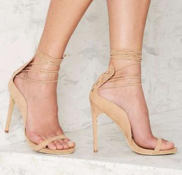 Nasty Gal Easily Swayed Lace-Up Heel