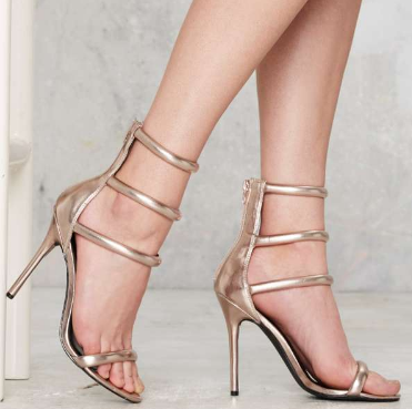 Nasty Gal On a Level Heel - Rose Gold